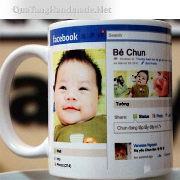 In cốc hình facebook timeline của bạn