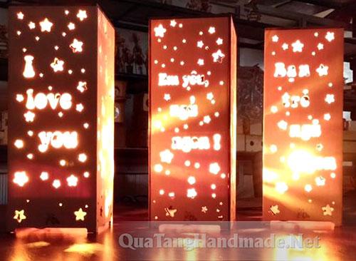Đèn ngủ ngàn sao bằng gỗ