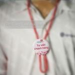 In huy hiệu dây đeo ở Hà Nội: giá 30k