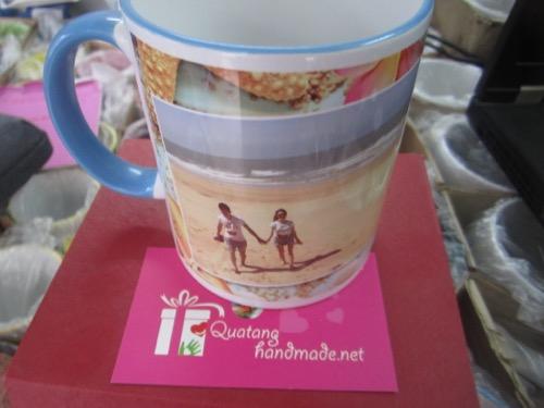In cốc trắng quai viền màu ở Hà Nội