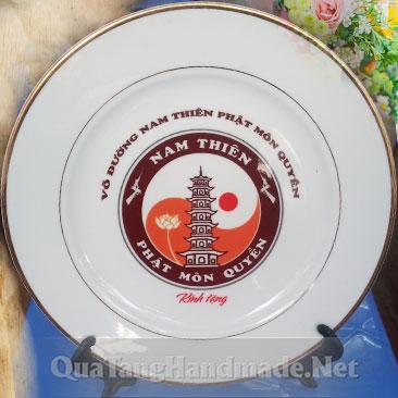 In logo đĩa sứ