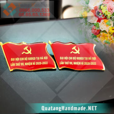 In huy hiệu Đại hội Đảng