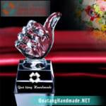 Cúp pha lê giải thưởng danh dự - ngón tay Like